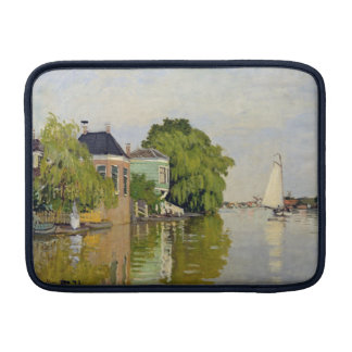 Houses on the Achterzaan - Claude Monet Sleeve For MacBook Air