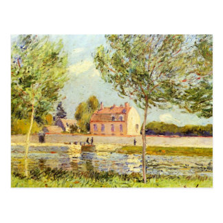 Houses on the banks of the Loing by Alfred Sisley Post Card