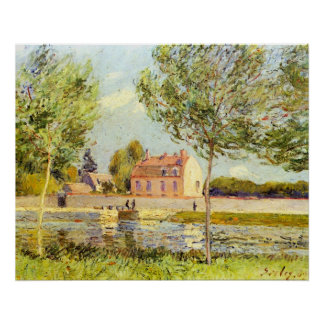 Houses on the banks of the Loing by Alfred Sisley Print