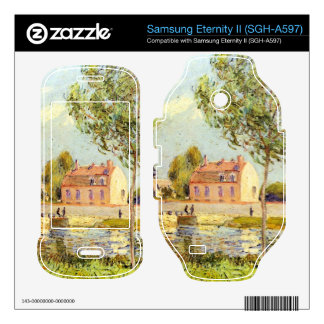 Houses on the banks of the Loing by Alfred Sisley Samsung Eternity II Decal