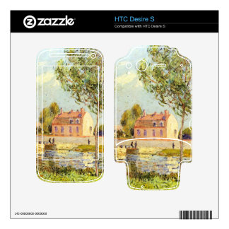 Houses on the banks of the Loing by Alfred Sisley Decal For HTC Desire S