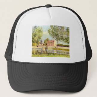 Houses on the banks of the Loing by Alfred Sisley Trucker Hat