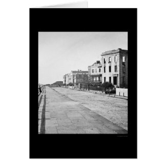 Houses on the Battery in Charleston, SC 1865 Greeting Card
