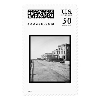 Houses on the Battery in Charleston, SC 1865 Postage