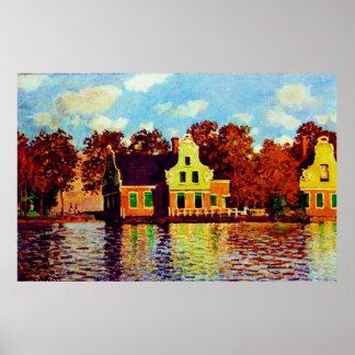 Houses on the Zaan River at Zaandam,1871 Print