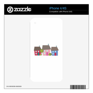 Houses Skin For iPhone 4