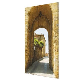 Houses viewed through an archway, Porta Franca, Canvas Print