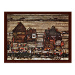 Houses With Clotheslines Or Suburb By Schiele Egon Postcards