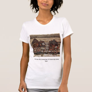Houses With Clotheslines Or Suburb By Schiele Egon Tee Shirts