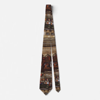 Houses with Laundry by Egon Schiele Neck Tie