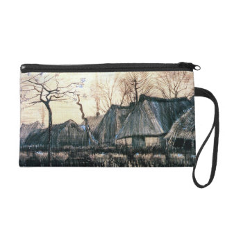 Houses with Thatched Roofs by Vincent Van Gogh Wristlet