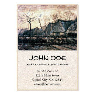 Houses with Thatched Roofs by Vincent Van Gogh Business Card