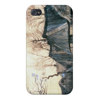 Houses with Thatched Roofs by Vincent Van Gogh iPhone 4 Case