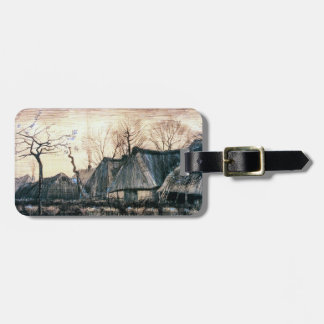 Houses with Thatched Roofs by Vincent Van Gogh Luggage Tags