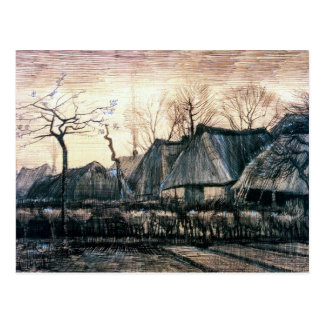Houses with Thatched Roofs by Vincent Van Gogh Postcard