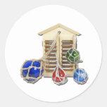 HouseShuttersFloats050512.png Round Sticker