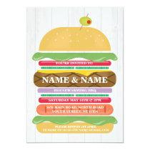 Housewarming BBQ Burger Stack New Home Invite