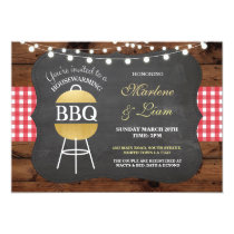 Housewarming BBQ Gold Rustic New Home Invitation