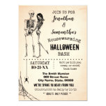 Skeleton Couple Halloween Bash Housewarming Party Invitation (Also available in white. Visit shop for more details).