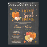 """Housewarming Home Sweet Chalk Fall Pumpkin Invite<br><div class=""""desc"""">Fall Home Sweet Home party invite. Perfect for a Housewarming,  House Party,  House Announcement,  BBQ etc. Simply change the text to suit your party.</div>"""