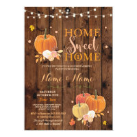 Housewarming Home Sweet Home Fall Pumpkin Invite