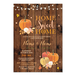 Housewarming Home Sweet Home Fall Pumpkin Invite