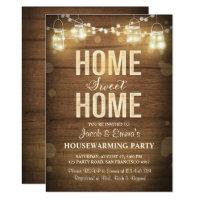 Housewarming invitation Home Sweet Home Rustic