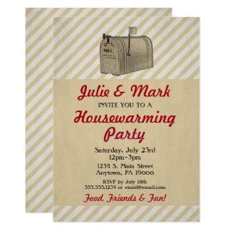 Housewarming Invitation Vintage Rustic Mailbox