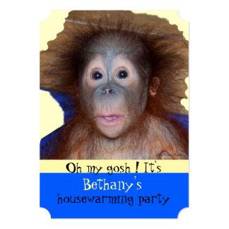 Housewarming Party Cute Baby Face Card