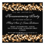 Housewarming Party Gold Hollywood Glam Card at Zazzle