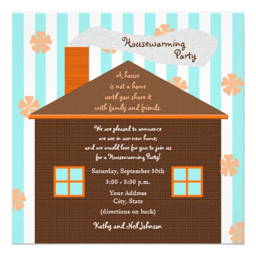 Housewarming Party Invitation -- Brown House
