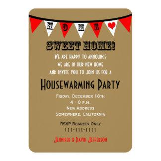Housewarming Party Invitation -- Bunting