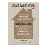 Housewarming Party Invitation -- Burlap House Announcement