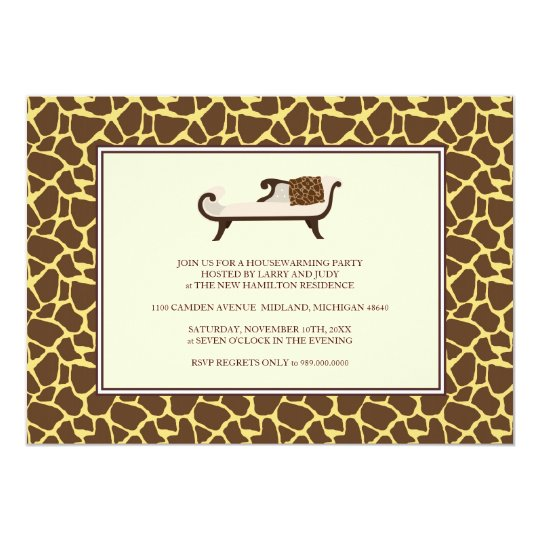 Housewarming Party Invitation {Giraffe Print}