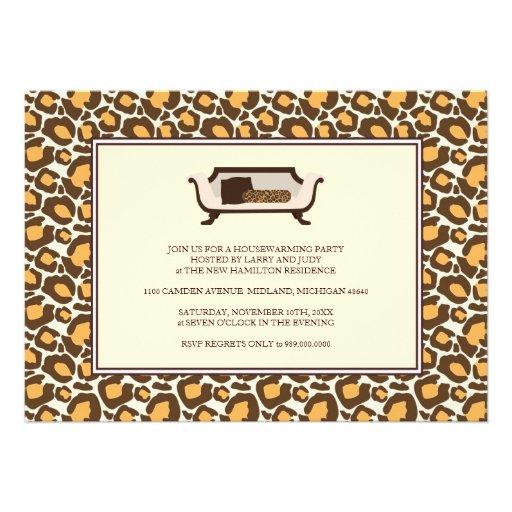 Housewarming Party Invitation {Leopard Print}