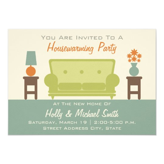 Housewarming Party Invitation - Living Room Sofa