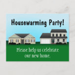 Housewarming Party Invitation Postcards