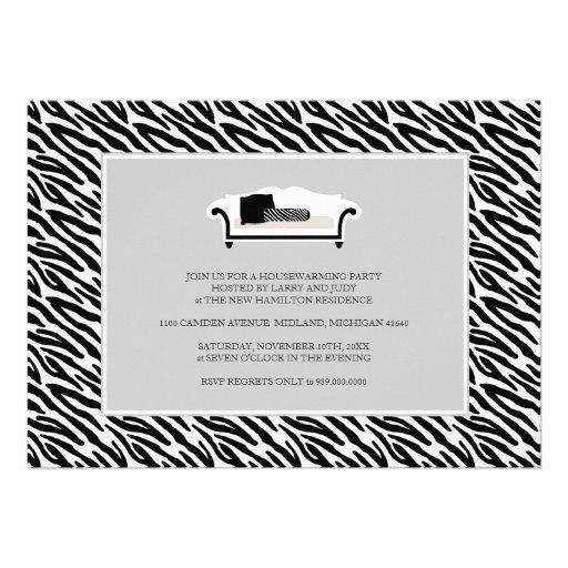 Housewarming Party Invitation {Zebra Print}