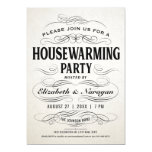 """Cool Vintage Inspired Housewarming Party Invitation  (Visit shop to see more vintage and retro housewarming  party invitations. Type """"Housewarming"""" in the search box)"""