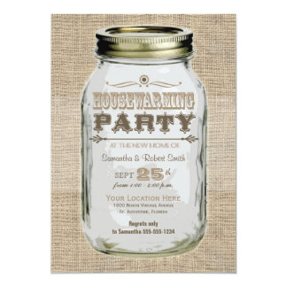 Housewarming Party Mason Jar Card