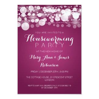 Housewarming Party Modern Dots Pink Card