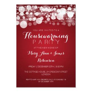 Housewarming Party Modern Dots Red Custom Invitations