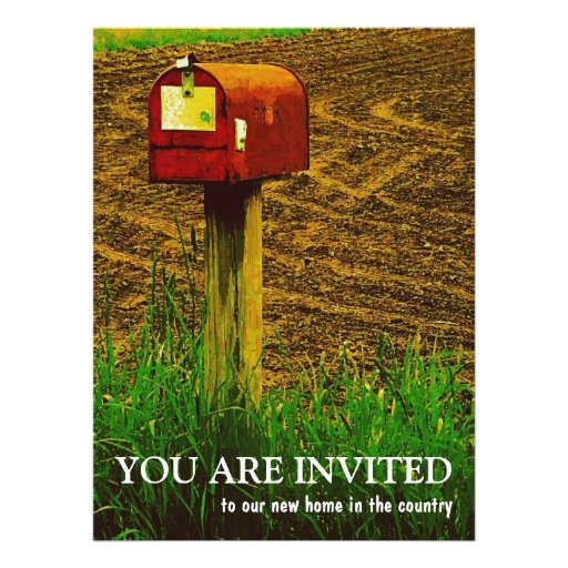 Housewarming Party - New Country Home Announcements