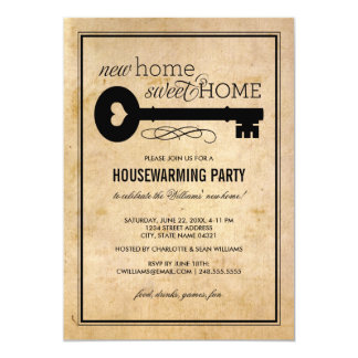 Housewarming Party   New Home Sweet Home 5x7 Paper Invitation Card