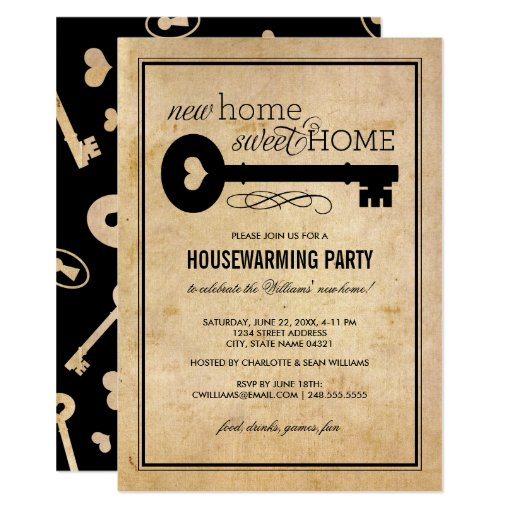 Housewarming Party New Home Sweet Home Invitation