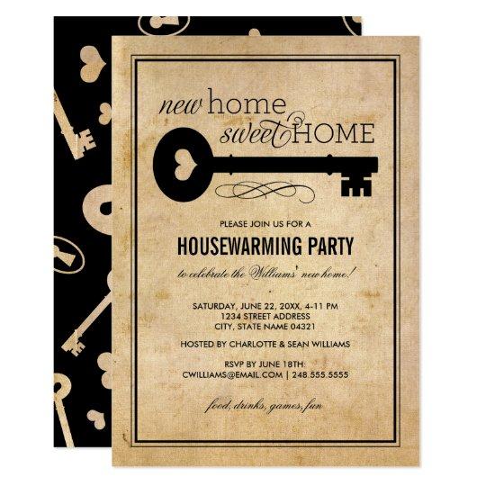Housewarming Party New Home Sweet Home Invitation Zazzle Com