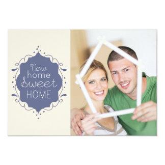 Housewarming Party Photo Invite / Blue