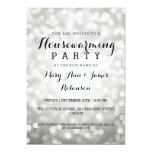 Housewarming Party Silver Glitter Lights Card at Zazzle
