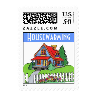 Housewarming Party Stamps Mail Invitation Announce
