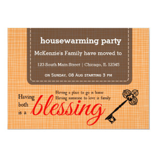 Housewarming party typography card